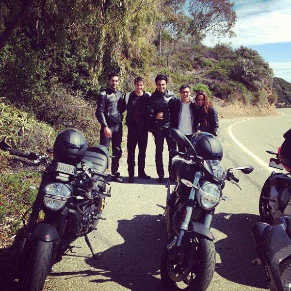 James Maslo balade a moto :)