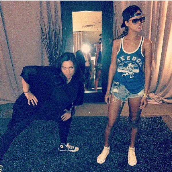 Rihanna and His girlfriend