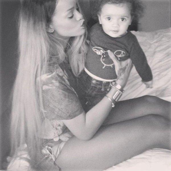Rihanna and A child