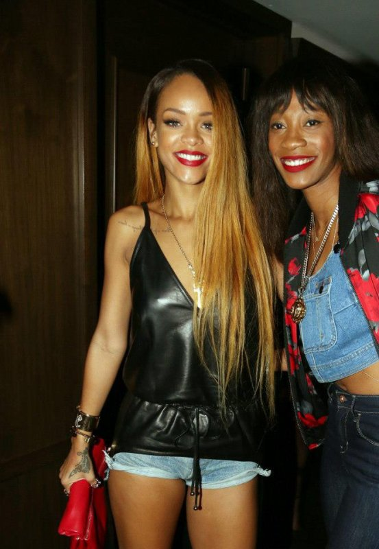 Rihanna and Her friend