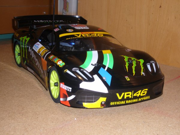 Ferrari F360 Protoform sur chassis V-One R Kyosho