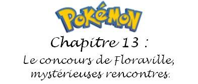 Chapitre 13 : Le concours de Floraville, mystérieuses rencontres.