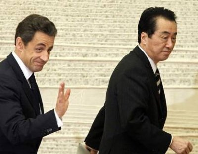 La visite éclair du président français au Japon