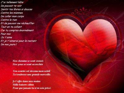 Se poeme d amour et pour tout les amoureux mes enfants mon homme ma famille et moi - Coeur d amoureux ...