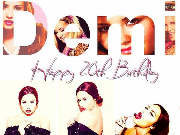 Aujourd'hui notre Miss Lovato fête ses 20 ans ! ♥