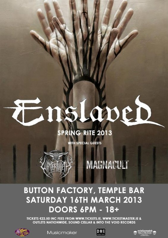 Enslaved, (Winterfylleth & Magnacult)  à la Button Factory (Dublin le 16 mars 2012)