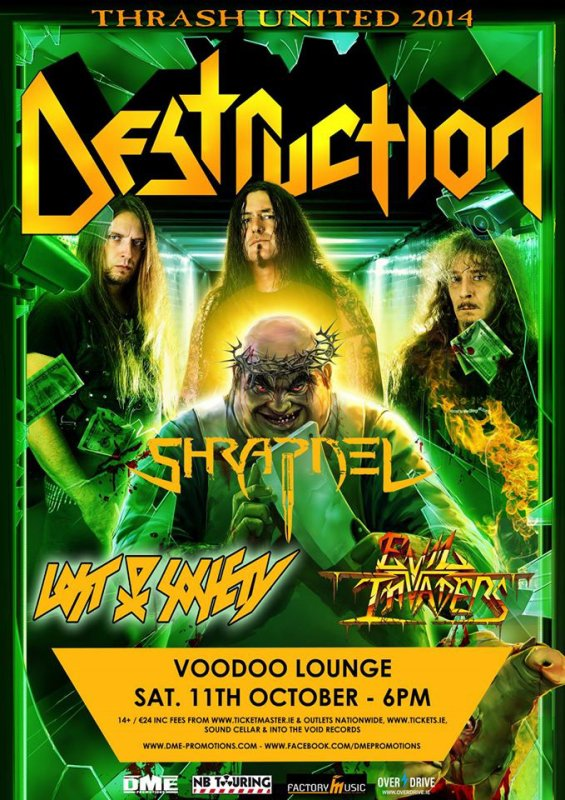 Destruction & Shrapnel, le 11 octobre au Voodoo Lounge.