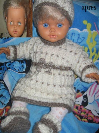 Réparation d'une poupée.