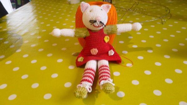 chat en crochet