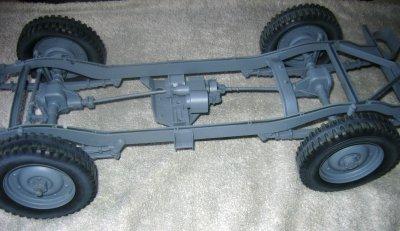 Voici le chassis apres démontage