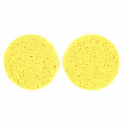 Lot de 2 petites eponges jaunes a demaquiller 2 euros