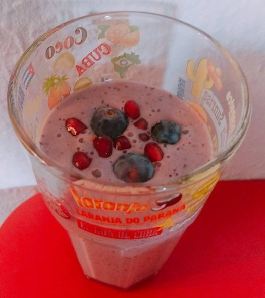 Smoothie grenade-myrtilles.