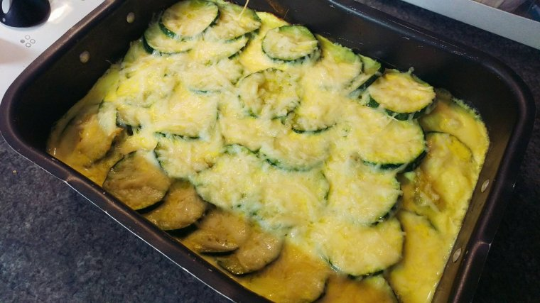 "Gratin de courgettes ""light""."