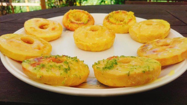 Donuts aux deux citrons.