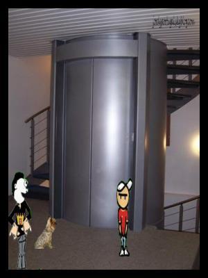 dans un ascenseur