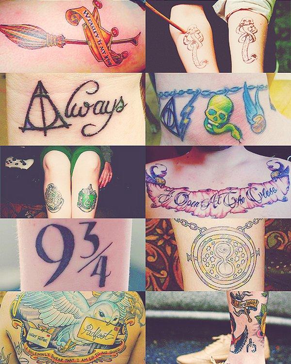 des tatouages à l'éffigie de la saga « harry potter » - potterhead ♥
