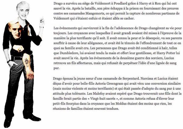 Révélation sur Drago Malfoy par J.K Rowling