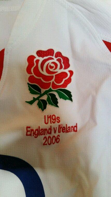 Maillot du xv de la rose U19 porté par Danny cipriani 2006 #10