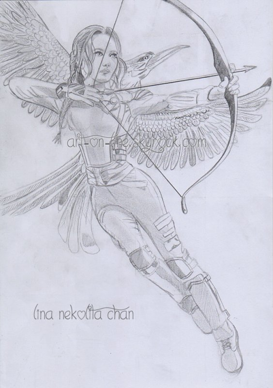 Dessin de Katniss - The Hunger Games