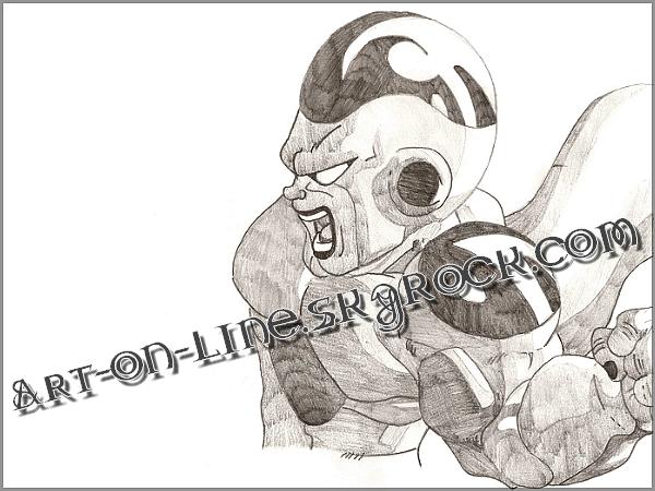 Article n°**  FREEZER DE DRAGON BALL (dessin datant de 2002-2004) © Copyright Art-On-Line  ___________________________________________________________________________________________________ [ ^^ Ajouter aux amis ] - [ $-) Ajouter aux favoris ] - [ 8-p Mon Site ] - [ :D Faire tourner ce blog ] - [ :) 1000 ]