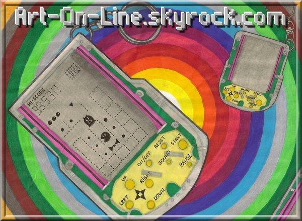 Article n°6  JEUX VIDEOS © Copyright Art-On-Line TECHNIQUE : • Crayon à papier • crayons de couleur FABER CASTELL • Feutres Reynolds pointe moyenne • Feutres PANTONE TRIA ___________________________________________________________________________________________________ [ ^^ Ajouter aux amis ] - [ $-) Ajouter aux favoris ] - [ 8-p Mon Site ] - [ :D Faire tourner ce blog ] - [ :) 1000 ]