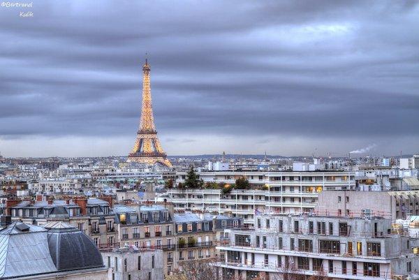 Ciel gris sur Paris