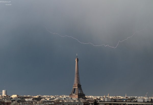 Lightning over Paris