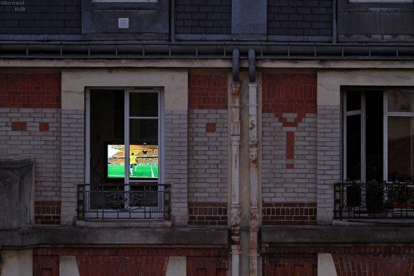 Coupe du monde dans l'immeuble d'en face