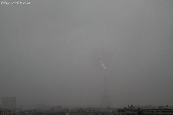 Orage d'hiver sur Paris