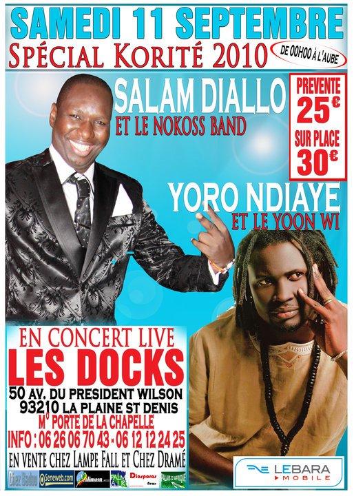 SPECIAL KORITE AU DOCKS DE PARIS AVEC SALAM DIALLO & YORO NDIYE EN CONCERT 100% LIVE