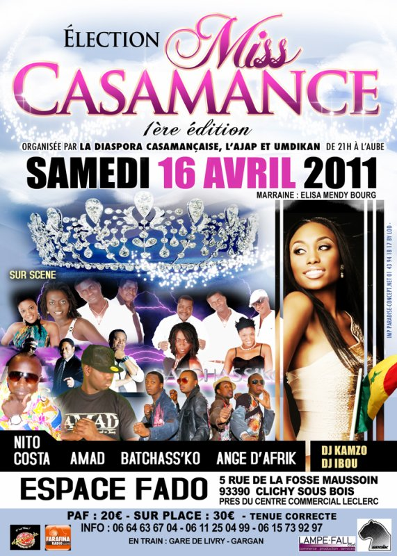ELECTION MISS CASAMANCE 1ère EDITION LE 16 AVRIL 2011