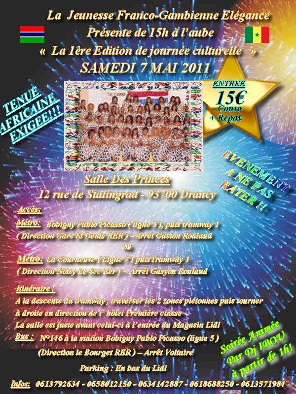 LA 1ère EDITION DE JOURNEE CULTURELLE DES JEUNES FRANCO-GAMBIENNE 07 MAI 2011