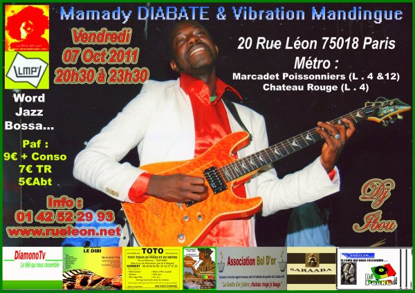 MAMADY DIABATE & VIBRATION MANDINGUE EN CONCERT LIVE 07 Oct 2011