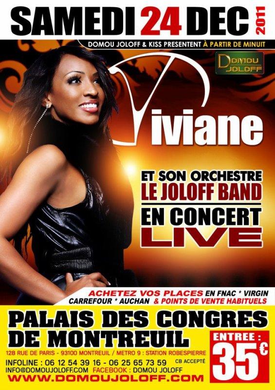Viviane la reine du Mbalax reviens cette année à Paris pour une date unique avec son orchestre le Joloff Band pour un concert 100% mbalax une ambiance de feu Concert A Ne Pas Rater.