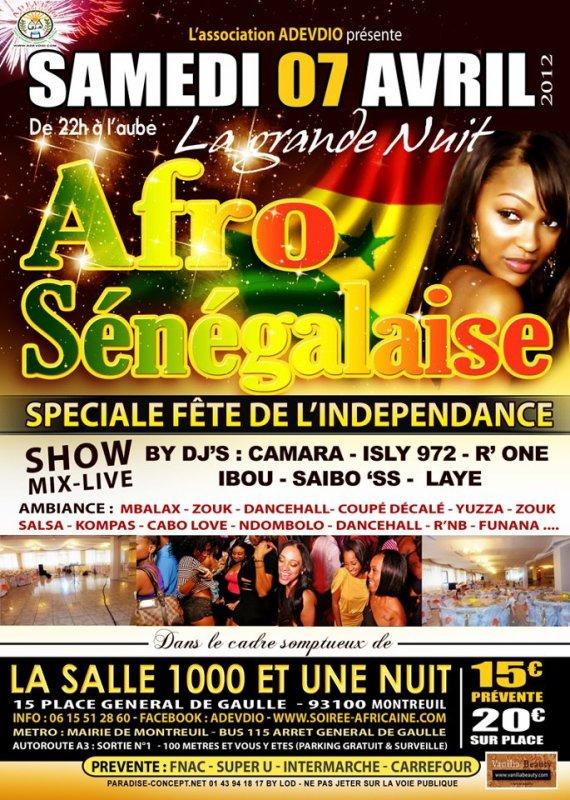 LA GRANDE NUIT AFRO-SENEGALAISE SPECIAL INDEPENDANCE