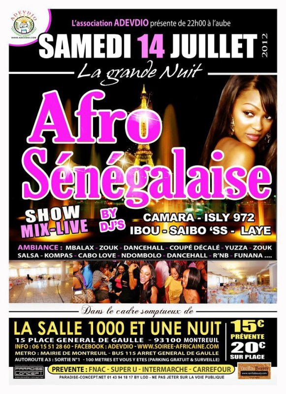GRANDE NUIT AFRO-SENEGALAISE 14/07/12