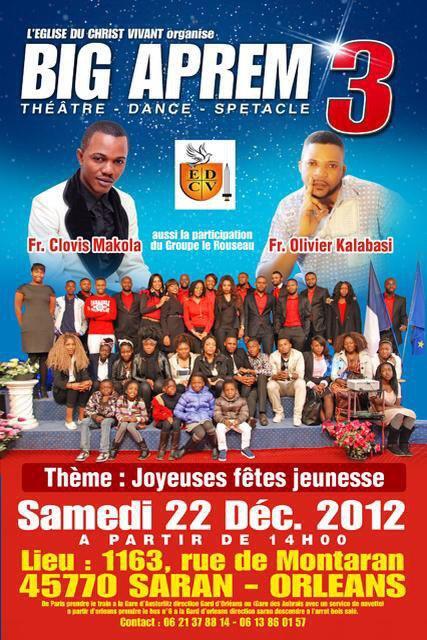Affiche du concert en France à Orléans, samedi le 22 décembre 2012