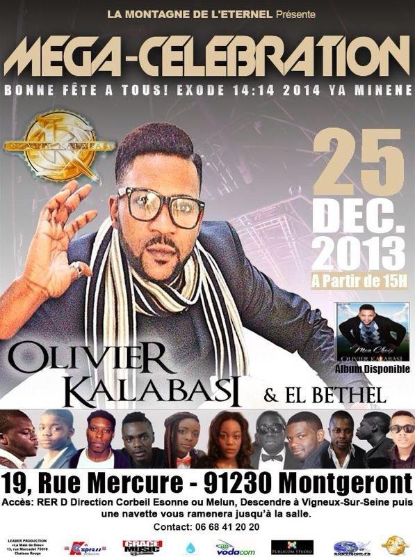 Affiche officielle du concert du frère Olivier Kalabasi & EL Bethel