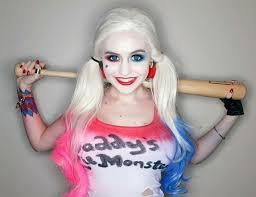 Makeup d'Halloween - Harley Quinn