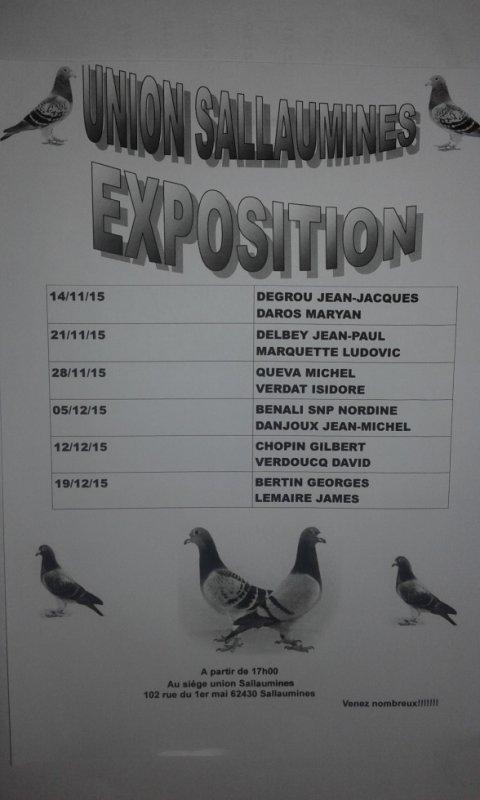 UNION SALLAUMINES CALENDRIER EXPOSITION