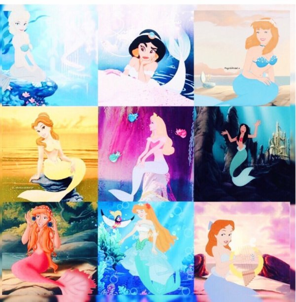 Les princesses Disney Transformer en sirene