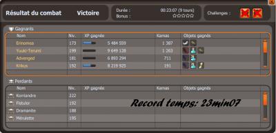 Drop, Xp, Record, Commande, Changement de l'Eni pour la Team Camilly !