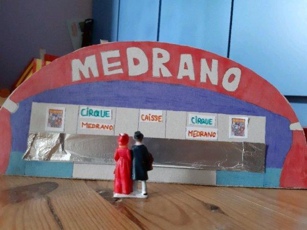 Ma maquette du cirque Medrano