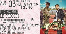 "722 -[02.03.2014 : ""Le Crocodile du Botswanga""]"