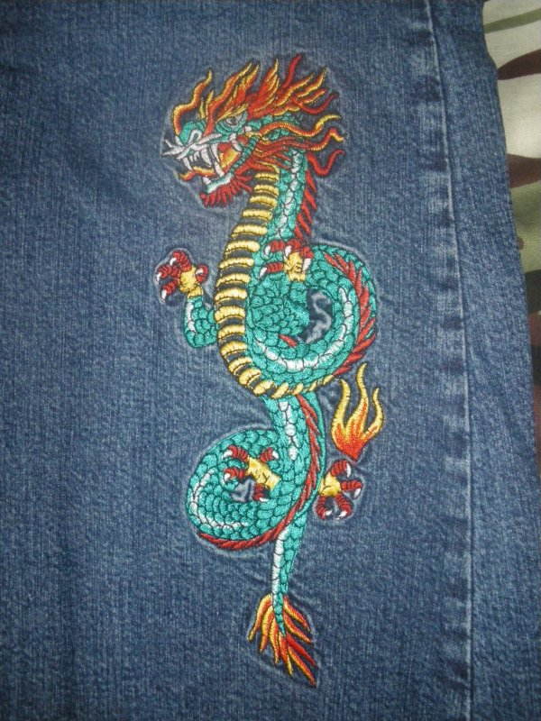 dragon detail jean