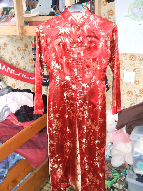 veritable robe chinoise rouge