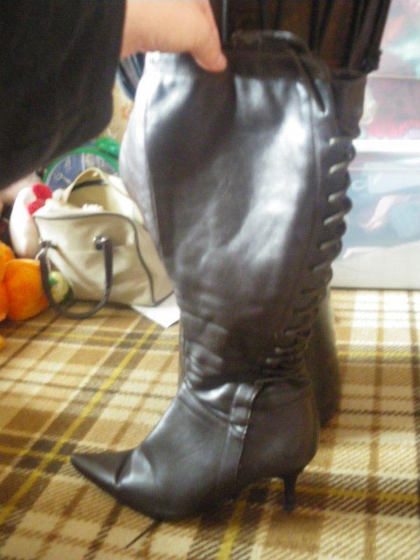 bottes marron petit talon