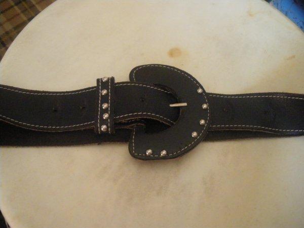 ceinture noir bleu marine