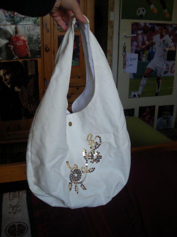 sac a main blanc + strass