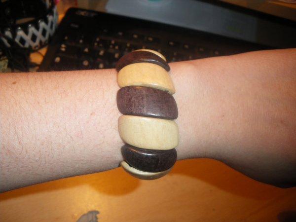 bracelet bois clair et foncé